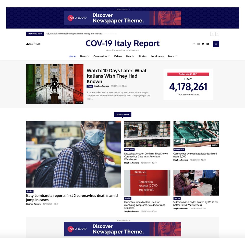 Covid-19 Italy Pro